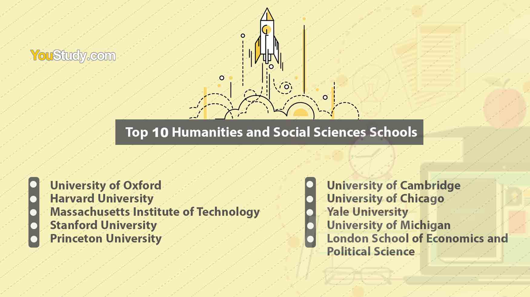 Top 10 Humanities and Social Sciences Schools