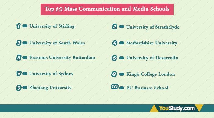 Top 10 Mass Communication and Media Schools